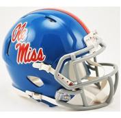 Mississippi Rebels Riddell Speed Mini Replica Powder Blue Football Helmet