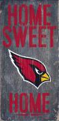Arizona Cardinals Wood Sign - Home Sweet Home 15cm x 30cm