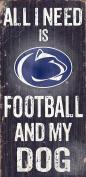Fan Creations C0640 Penn State University Football And My Dog Sign