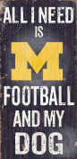 Fan Creations C0640 University Of Michigan Football And My Dog Sign