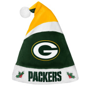 Forever Collectibles 9016323891 Green Bay Packers Basic Santa Hat - 2016