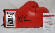 Mike Tyson Hand Signed / Autographed Red Everlast Boxing Glove - JSA