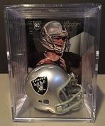 Oakland Raiders NFL Helmet Shadowbox w/ Derek Carr card