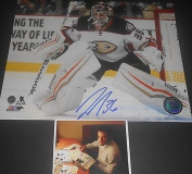 John Gibson Anaheim Ducks Autographed Signed 8x10 Picture B