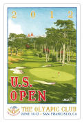 Signed 2012 U.S. Open Olympic Club Mini-Poster by Lee Wybranski