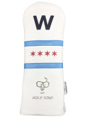 """Sunfish Leather Driver Headcover - Cubs Win - Fly the """"W"""""""