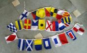International Maritime Signal Flags - String of 26 Flag - 2.4m Long – Nautical / Maritime / Marine / Boat / Ship / Vessel / Nautical Décor