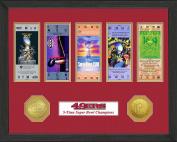 NFL San Francisco 49Ers Sb Championship Ticket Collection, Bronze, 46cm x 36cm x 7.6cm