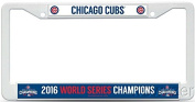 Chicago Cubs 2016 WORLD SERIES CHAMPIONS Rico Plastic Licence Plate Frame! Officially Licenced Frame 30cm x 15cm ! Celebrate 108 years in the Making and Showcase your Team Spirit! Makes a Great Gift!