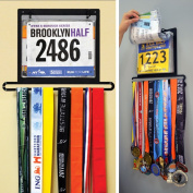 Gone For a Run BibFOLIO Plus Race Bib and Medal Display | Wall Mounted Medal Hanger – Displays up to 24 medals and 100 race bibs