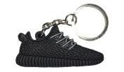 """Pirate Black """"Yeezy"""" 350 Boost 2D Flat Sneaker Keychain"""