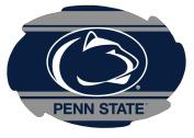 PENN STATE NITTANY LIONS STRIPE DESIGN SWIRL DECAL-PENN STATE STICKER-NEW FOR 2016