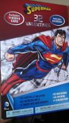 Superman 32 Valentine Classroom Trading Cards With Stickers & Includes A Teachers Card