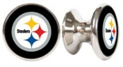 Pittsburgh Steelers NFL Stainless Steel Cabinet Knobs / Drawer Pulls