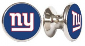 New York Giants NFL Stainless Steel Cabinet Knobs / Drawer Pulls