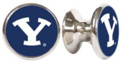 BYU Brigham Young Cougars NCAA Stainless Steel Cabinet Knobs / Drawer Pulls