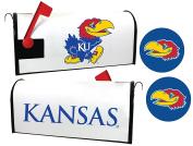 Kansas Jayhawks Magnetic Mailbox Cover & Sticker Set