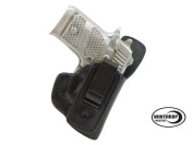 Ruger LCP II NO Laser IWB CCW Single Spring Clip Leather Holster with Body Shield R/H Black - 1186