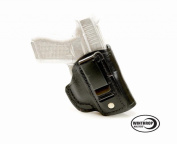 Ruger LCP II NO Laser IWB CCW NO Shield Leather Single Spring Clip Holster R/H Black - 1185