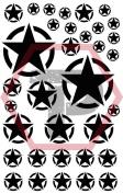 Army Star stencil for cerakote, gunkote, duracoat Avery paint mask sticky back vinyl