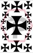 Crusader Cross stencil for cerakote, gunkote, duracoat Avery paint mask sticky back vinyl