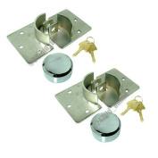 2 x HIGH SECURITY PADLOCK + HASP VAN LOCK + FIXING KIT