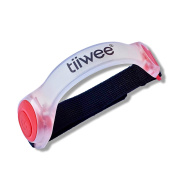 Tiiwee Bright LED Silicone Reflective Safety Sports Light for Outdoor Running Cycling Jogging and Hiking - Red