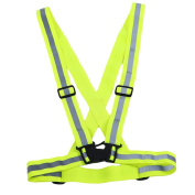 HENGSONG Reflective Vest Waist Belt Armband or Ankle Bands Adjustable For Cycling, Walking, Motorcycle Riding and Running and Traffic Safety