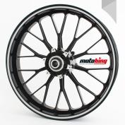 Motoking rim sticker 360 ° / whole circle / for 60cm - 70cm / colour & width are selectable - LIGHT GREY