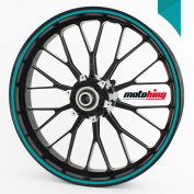 Motoking rim sticker 360 ° / whole circle / for 25cm - 36cm / colour & width are selectable - TURQUOISE