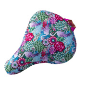 Liix Saddle Cover Catalina Estrada Flowers and Flamingos | waterproof | 600D polyester w/ PVC coating