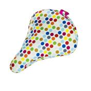 Liix Saddle Cover Polka Big Dots Mix White