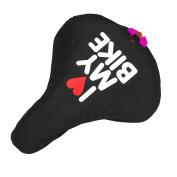 Liix Saddle Cover I Love My Bike Black