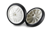 Bottari Bike Kid's Rubber Trainer Wheels with 14 Connexions (Pack of 2) - Multicoloured