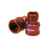 Voxom Vad 1 PRESTA to SCHRADER Valve Adapter - Red, One Size