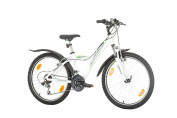 60cm , CoollooK, CULT, Unisex, Mountain, Hardtail Aluminium Frame, 18 Speed, Shimano, Rims MACH1, White-Gloss