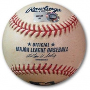 Alfonso Soriano Game Used Baseball 7/10/10 - Ground Out vs. Ely Cubs LH969534 - MLB Autographed Game Used Bases