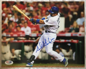 Adrian Gonzalez Autographed Picture - 8x10 ITP Witness COA #4 - PSA/DNA Certified - Autographed MLB Photos