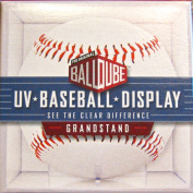 6 Ball Qube Grandstand Baseball Displays with UV Protection