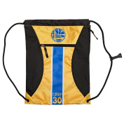 NBA Golden State Warriors Steph Curry #30 Official Big Stripe Zipper Drawstring Backpack