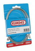Elvedes Inner Cable Brake Universal Staniless Steel 3000 mm 2 Nipples Fits Shimano And Campagnolo - Black