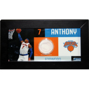 NBA New York Knicks Carmelo Anthony Player Collage Framed Photo with Game Used Uniform, 10cm x 20cm