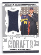 PATRICK O'BRYANT 2006-07 Topps Big Game Draught Day Moments #POB JUMBO JERSEY Parallel Rookie Card RC #81 of only 99 Made!! Golden State Warriors Basketball