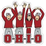 NCAA Ohio State Buckeyes Letters People Car Magnet, 15cm x 15cm ,Scarlet