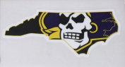 East Carolina Pirates Jolly Roger State Ultra Durable Decal