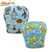 OHBABYKA Baby Reusable Swimming Cloth Nappy Pants Pool Cover, One Size, 2Pcs