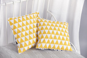 Power Kids cushion cover yellow Triangles and Black Triangles