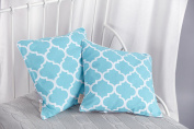 Kraft Kids cushion cover Moroccan Clover Moroccan Clover Grey and Turquoise