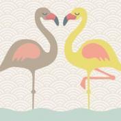 "Wallpaper Border Children ""Funny Flamingos"""