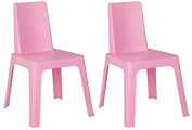 Resol Childrens Indoor / Outdoor Julieta Chair - Pink x 2